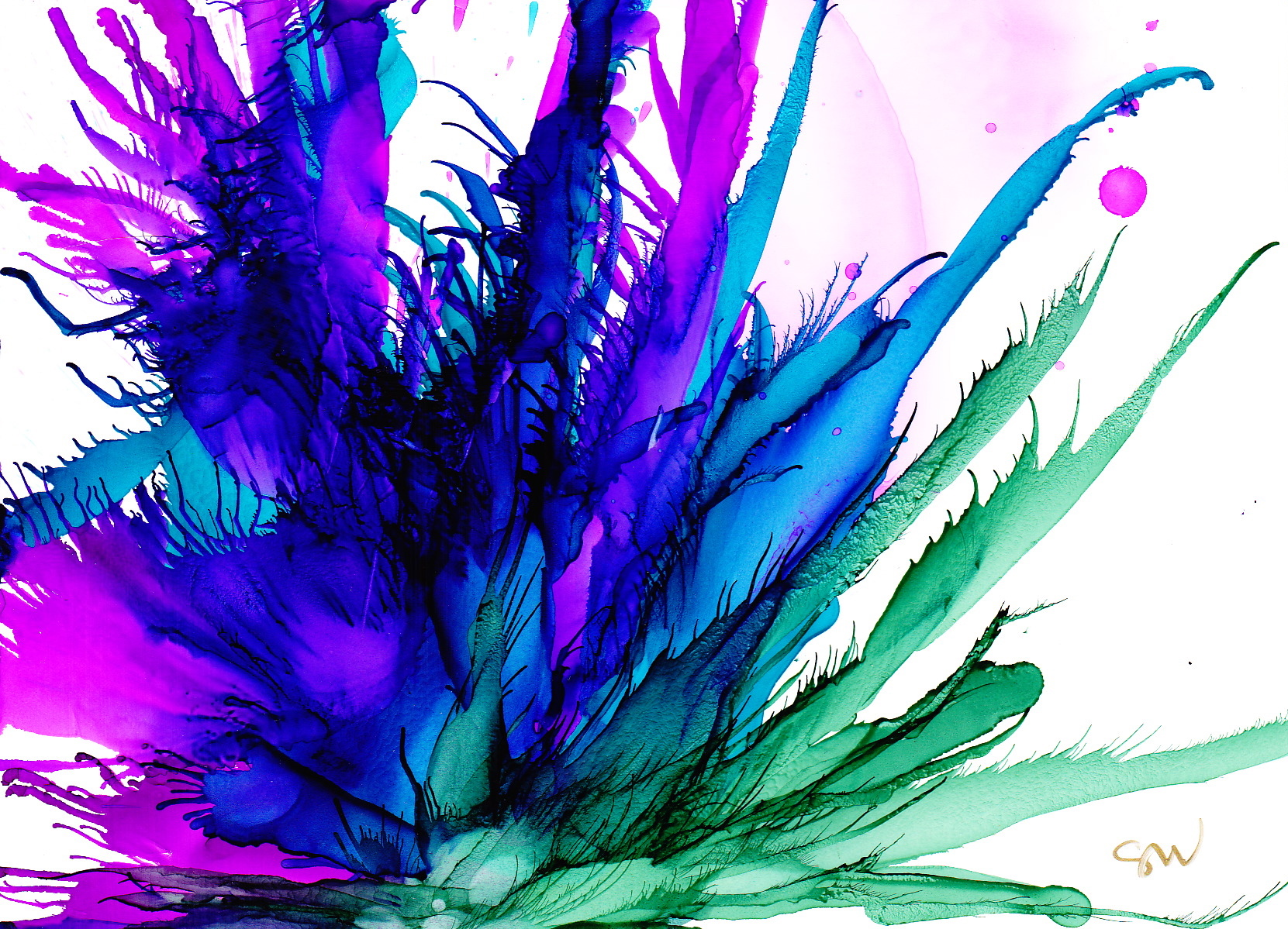 Using a compressor or can of compressed air to paint flowers one of my alcohol ink friends noticed an album i have on facebook called flowers i did these in november of 2013 trying to discover the secrets of stacie baditri Images