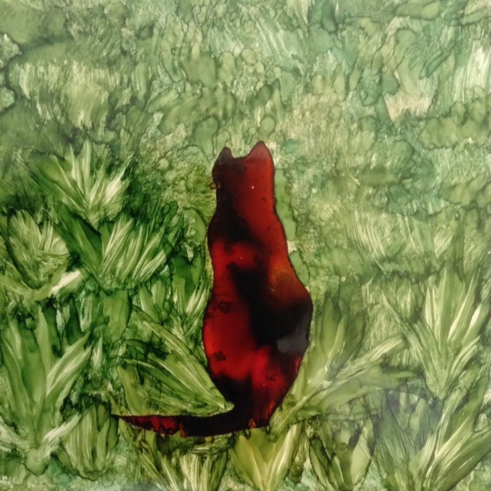 Maria Mason Cat in the grass