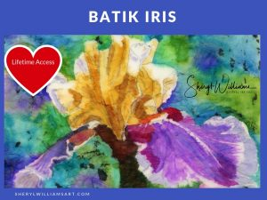 Alcohol Ink Batik Iris
